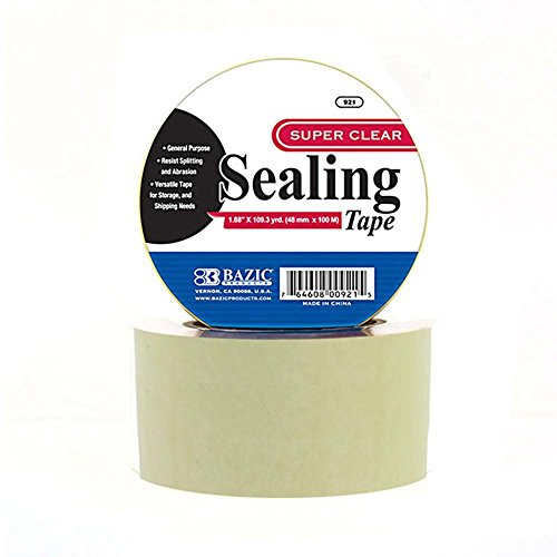BAZIC 1.88'' X 109.3 Yards Clear Packing Tape, Case Pack of 36 by Bazic (Image #1)