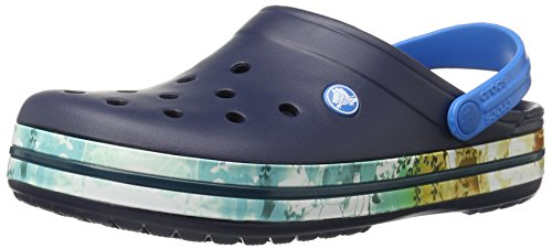 Crocs Unisex Crocband Tropisk To Tette Muldyr Navy