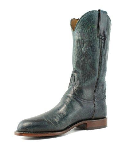 Lucchese GY5503.RR Blair Womens Ocean Blue Goat Leather Cowboy Western Boots Ocean Blue xwk0R0z