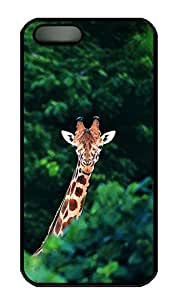 Brian114 iPhone 5S Case - Cute Animals Giraffe 21 Back Case Cover for iPhone 5 5S Hard Black Cases