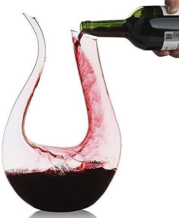 Decantador,Smaier 1200ml Aireador de Rojo Vino ,Cristal de Jarra Regalos, Accesorios de Vino