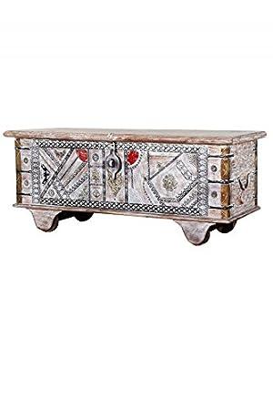 Orientalische Truhe Kiste aus Holz Chadijah 116cm groß ...