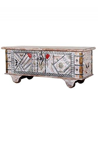 Orientalische Truhe Kiste Aus Holz Chadijah 116cm Gross Vintage