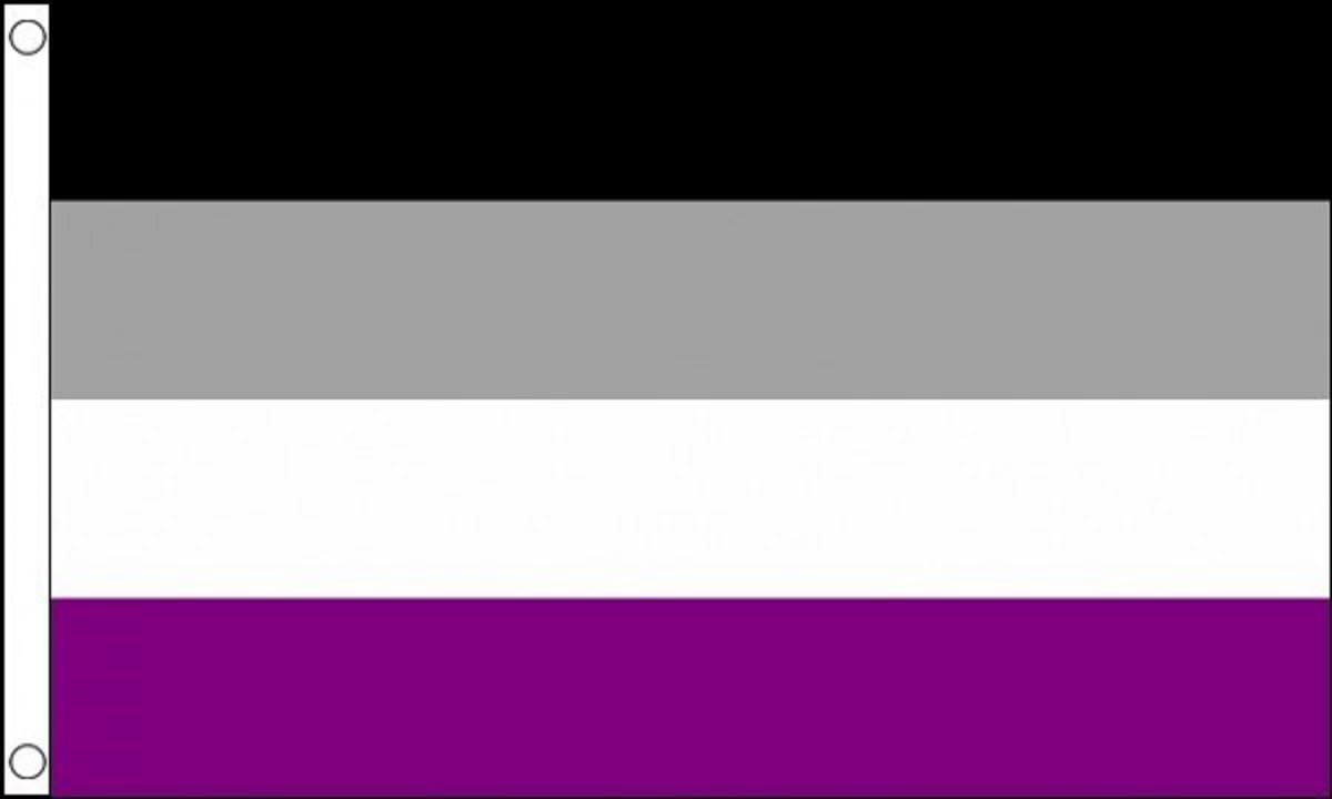 Asexual Asexualit/é 5//'X3/' Drapeau 150/cm x 90/cm