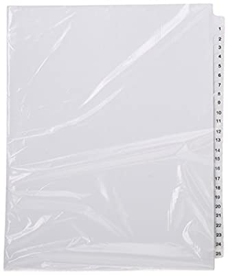 Avery Legal Dividers, Standard Collated Sets, Letter Size, Side Tabs, 1-25 Tab Set (01330) from Avery