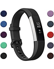 Fundro Replacement Bands Compatible with Fitbit Alta/Alta HR, Soft Adjustable Wristbands for Fitbit Alta/Alta HR for Women Men