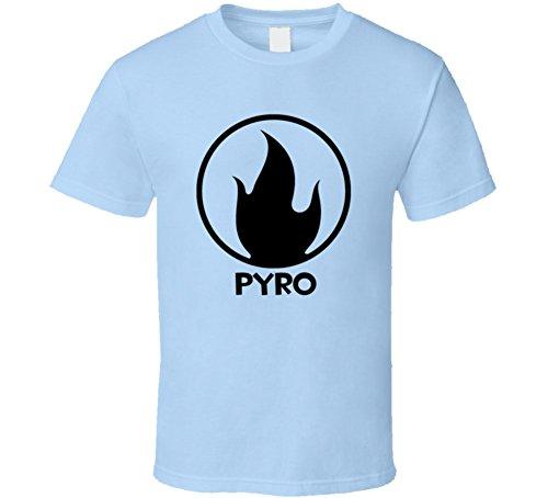 Team Fortress 2 Pyro Blue Team Video Game Fan T Shirt S Light Blue
