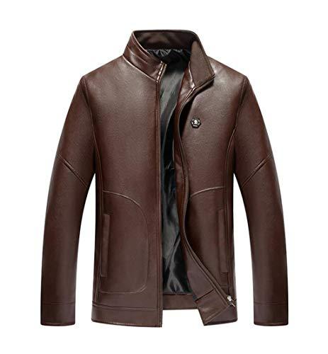 Men couleur Leather Brown Xxl Zjexjj Pu Loose Jacket Taille qxtWw4H