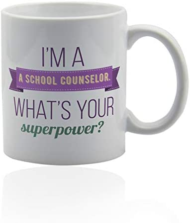 School counselor white ceramic gifts product image