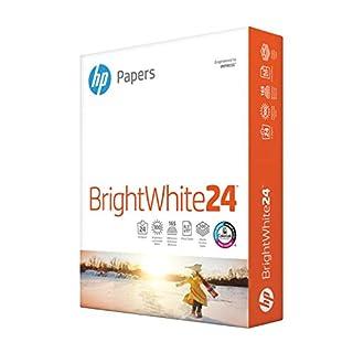 HP Paper Printer Paper 8.5x11 BrightWhite 24 lb 1 Ream 500 Sheets 100 Bright Made in USA FSC Certified Copy Paper Compatible 203000R