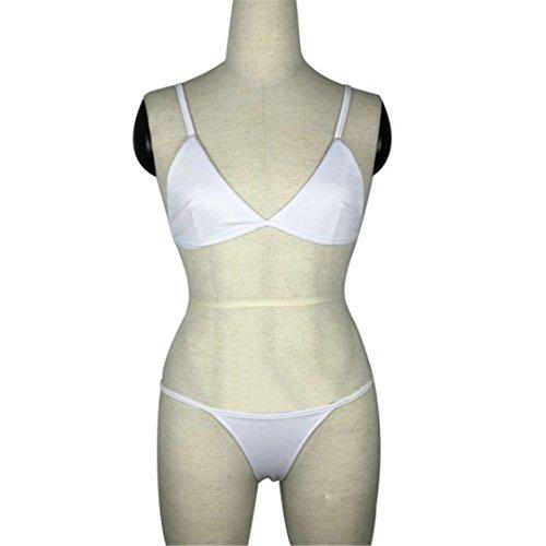 Bianca imbottito Italily Push Up Donne Bikini Bikini Donne q0wU85t