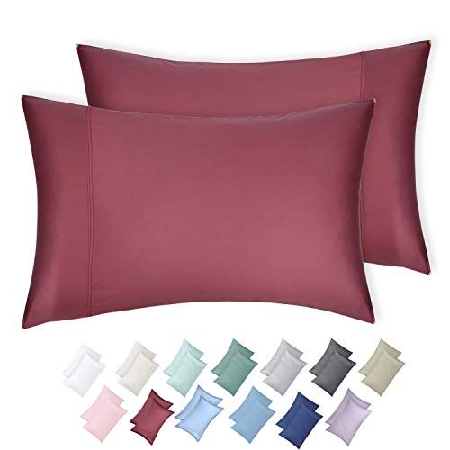 California Design Den 600 TC 100% Cotton Sateen Weave Pillowcases, Deco Rose, 2 Piece King