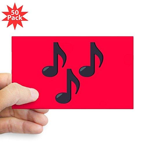 CafePress - Music Notes Emoji - Sticker (Rectangle 50 pk) by CafePress