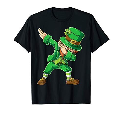 (St Patricks Day Shirt Dabbing Leprechaun Boys Kids Men)