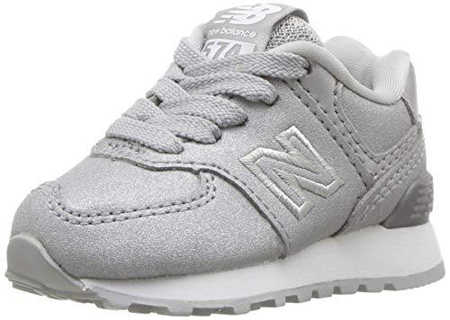New Balance 574v1 Sneaker, Silver, 4 M US Toddler