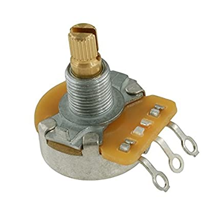 Poti, 250K, logarithmic, smooth axis Allparts EP-0885-000 CTS potentiometer