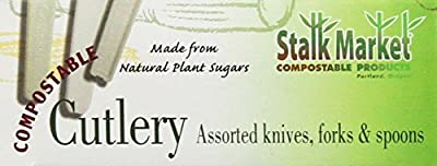 Stalkmarket 100% Compostable CPLA Retail Packed Cutlery (Pack of 24 per case)