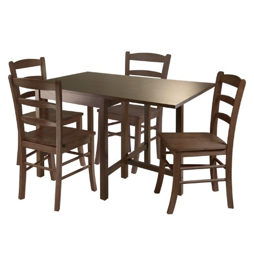 Winsome Wood Lynden 5 Piece Dining Table With 4 Ladder Back Chairs