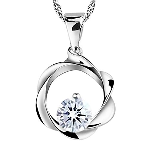 Petal Ring of Love Sterling Silver Pendant Necklace