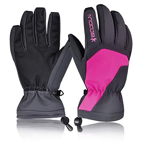 - Vic Gray Men Women Ski Gloves Warm Waterproof Full Finger Motorcycle Snowboard Winter Gloves