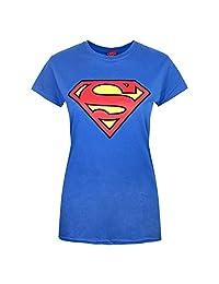 Superman Womens/Ladies Shield Logo T-Shirt