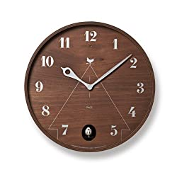 Lemnos Men's Pace Cuckoo Clock, Brown, One Size