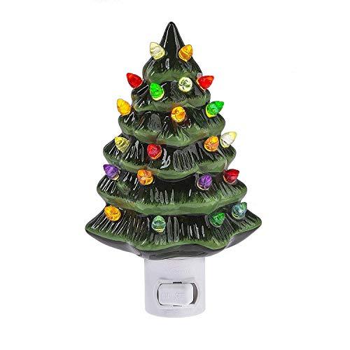 Decorative Ceramic Christmas Tree Night Light (Christmas Night Tree)