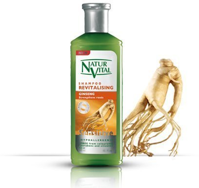 Hair Shampoo Ginseng - Revitalizing - 300 Ml / Natural & Organic