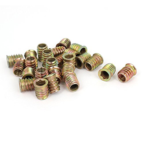M8 E-Nut Wood Insert Interface Screws Hex Socket Nut Fittings 25 (Wood Insert)