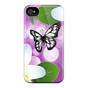 Maria N Young Fashion Protective Blessing Lilies Case Cover For Iphone 4/4s