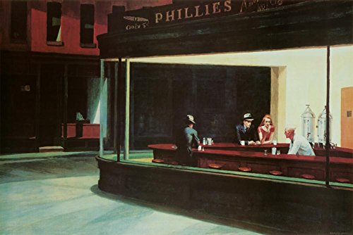 (24x36) Edward Hopper Nighthawks Art Print Poster -