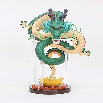 Yvonnezhang Anime Dragon Ball Figuras 7 Estrellas Bolas de Cristal con Estante Shenron Set de Figuras DBZ Dragonball Coleccionables Modelo Doll Toys, ...