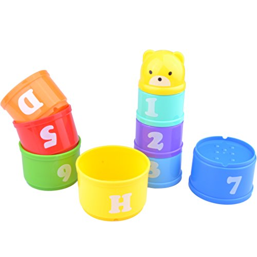 Parrot Food Toys Educational Stacking Cup Treat Toy Chewing Playing Training for Birds