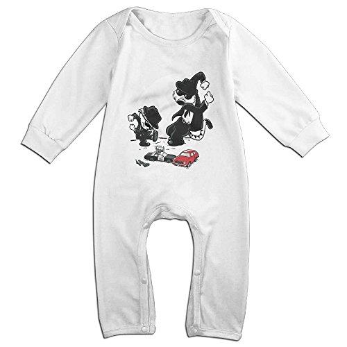 Raymond Calv And Hobbwood Long Sleeve Bodysuit Baby Onesie White 24 Months