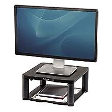 Fellowes Premium - Soporte Elevador para Monitor de Ordenador, Ajustable en Altura, para monitores con Peso máximo de 36 kg, Color Grafito