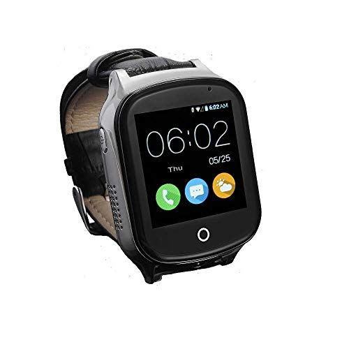 3G GPS Smart Watch Phone for Elderly, KKBear Real-time Tracking, Geo-Fence Touch Screen Camera Step Counter SOS Alarm Remote Monitor Anti-Lost Dementia/Alzheimers Care with GPS Activity Tracker