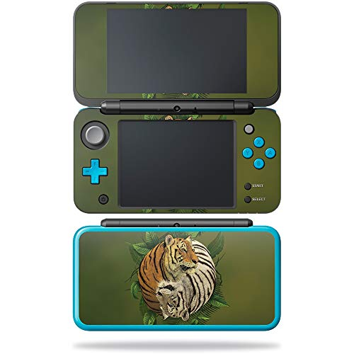 MightySkins Skin Compatible with Nintendo New 2DS XL - Tiger Yin Yang | Protective, Durable, and Unique Vinyl Decal wrap Cover | Easy to Apply, Remove, and Change Styles | Made in The USA