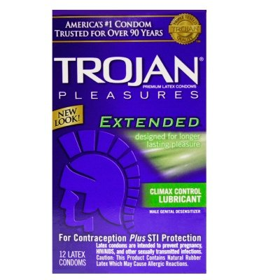 Trojan Extended Pleasure Lubricated: 100-Pack of Condoms by Trojan