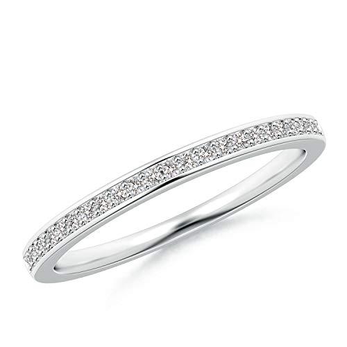 Pave Set Half Eternity Women's Diamond Wedding Band in Platinum (1mm - Set Pave Band Platinum Diamond