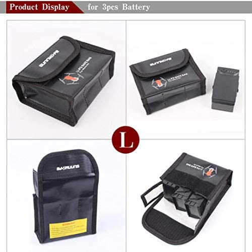 Wyanlin Color : Black Wyanlin Battery Explosion-Proof Bag for DJI Mavic Pro Black
