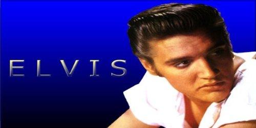 Elvis Presley on Blue Novelty License Plate ()