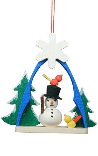 (Alexander Taron Importer 10-0863 Christian Ulbricht Ornament - Snowman in Arch - 2.75
