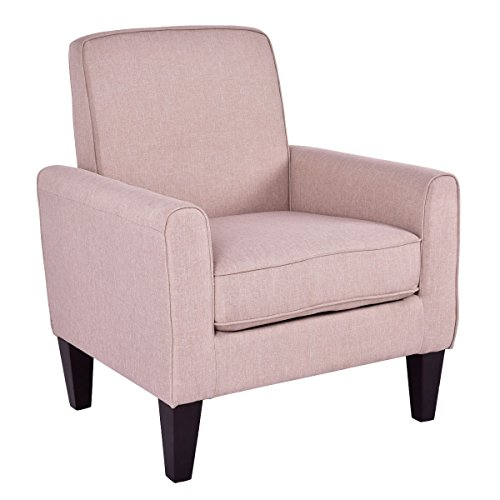 AK Energy Accent Sofa Linen Fabric Upholstered Leisure Arm Chair Living Room Furniture 21