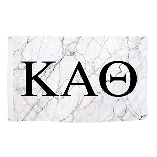 Kappa Alpha Theta Light Marble Sorority Letter Flag Banner 3 x 5 Sign Decor theta