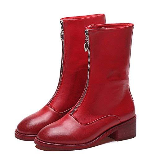 Basso 36 Eu Donna Da Zipper Basse Scarpe 'retro Tacco Deed Skid Con Boots' Stivali Side Resistance T6ZwO