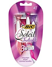 BIC Soleil Twilight Disposable Women's Razors - Pack of 4 Shavers