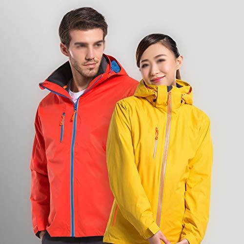 En Amovible Et Parties Vent D'extérieur Imperméable D'alpinisme Vêtements Hommes Veste Épaisse Voyage Deux Men Femmes Orange Gjfeng Pour De Au FvpAn