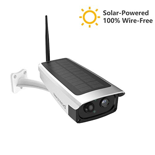 Solar-Powered Battery Security Camera, NexTrend Wire-Free Wireless IP Camera for Outdoor with 6600mAh Battery, PIR Alarm, IR-Cut Night Vision, Full HD Wide Angle Lens, SD Card Slot, Cloud Service