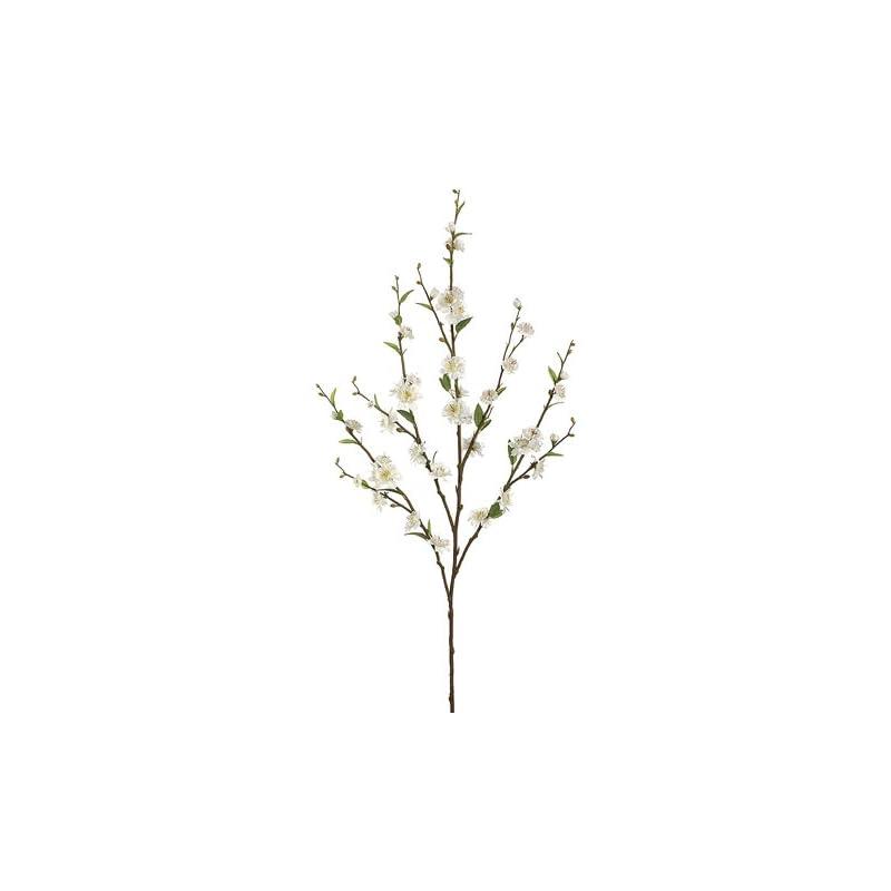 "silk flower arrangements 39"" cherry blossom spray x5 white (pack of 12)"