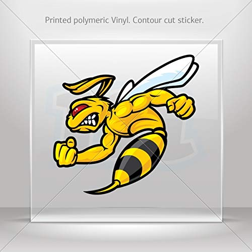 Decal Bee Hornet Fighter Car Door Hobbies Sports car Durable Racing Mo (6 X 5.77 Inches)